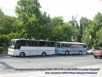 Крым. Экскурсионные автобусы TAM 130 A 85 и ЛАЗ-695Н в Ялте на улице Садовой