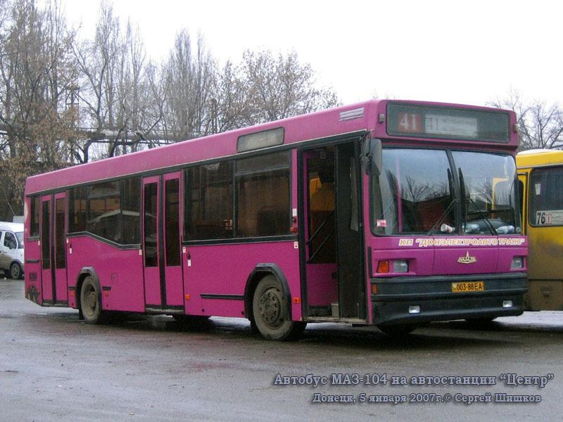 Донецк. МАЗ-104.021 003-88EA