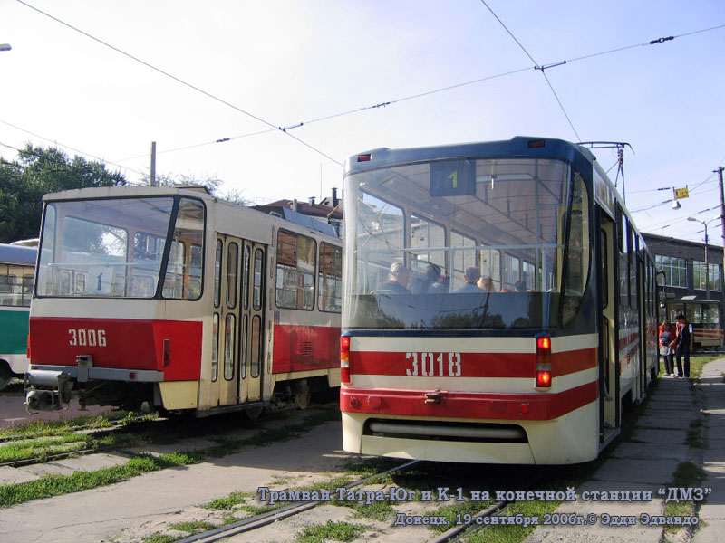 Донецк. Татра-Юг №3006, К1 №3018