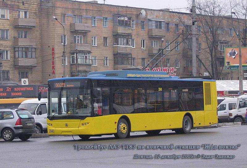 Донецк. ЛАЗ-Е183 №2040