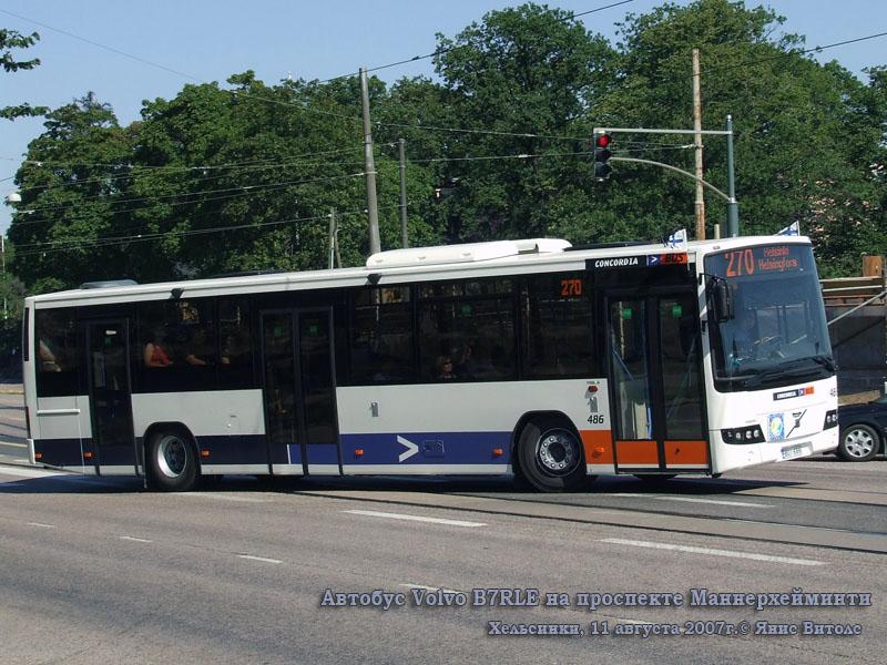 Хельсинки. Volvo B7RLE BUI-686