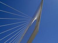 Иерусалим. Главная опора трамвайного моста на пересечении улиц Герцеля и Яффо