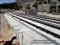 Иерусалим. Строительство на улице Герцеля - рельсы укладываются по бесшпальной технологии