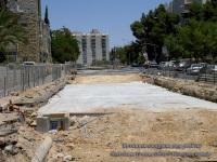 Иерусалим. Бетонная подушка под рельсы