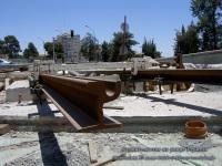 Иерусалим. Строительство на улице Герцеля - сечение рельса