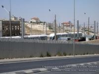 Иерусалим. Строящееся трамвайное депо на Французском холме и новые трамваи