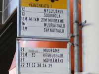 Ювяскюля. Автобусный маршрутный указатель