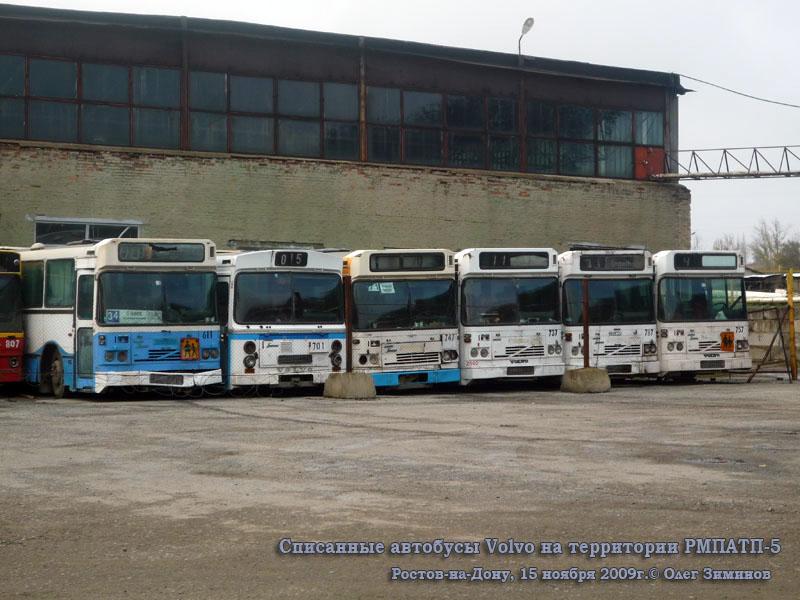 Ростов-на-Дону. Säffle (Volvo B10M-70B) х806ку, Säffle х807ку, Säffle (Volvo B10M-70B) х911ку, Säffle (Volvo B10M-70B) х912ку, Säffle (Volvo B10M-65) х196еа, Säffle (Volvo B10M-70B) х910ку