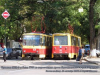 Ростов-на-Дону. 71-605 (КТМ-5) №021, Tatra T6B5 (Tatra T3M) №829