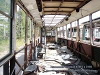 Санкт-Петербург. Списанный вагон КТМ-5 в Совмещенном трамвайно-троллейбусном парке доживает свои последние дни