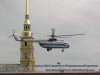 Санкт-Петербург. Вертолет Ми-8 (Балтийские авиалинии, RA-24477) взлетает от Петропавловской крепости