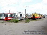 Санкт-Петербург. Трамвайная площадка отстоя Совмещенного трамвайно-троллейбусного парка