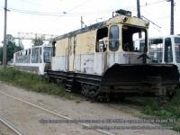 Санкт-Петербург. Списанные снегоочиститель и ЛМ-68М в трамвайном парке №1