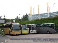 Тампере. Российский туристический автобус (ав891-69rus) ничем не выделяется среди своих финских собратьев на стоянке рядом с парком Сяркянниеми (Sarkanniemi)