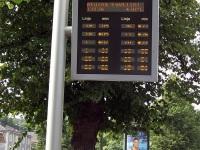 Тампере. Электронный автобусный маршрутный указатель