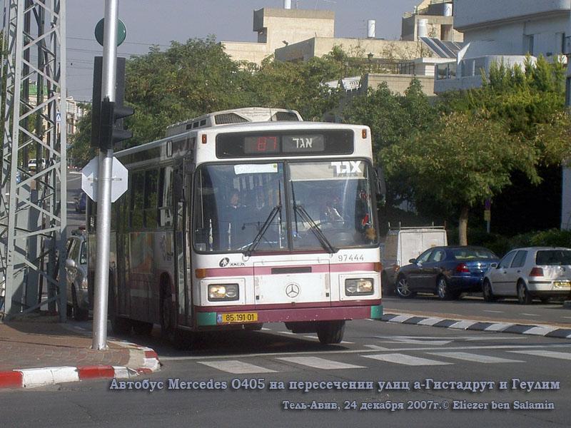 Тель-Авив. Mercedes O405 85-191-01