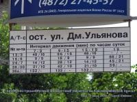 Тула. Автобусно-троллейбусный маршрутный указатель на Красноармейском проспекте