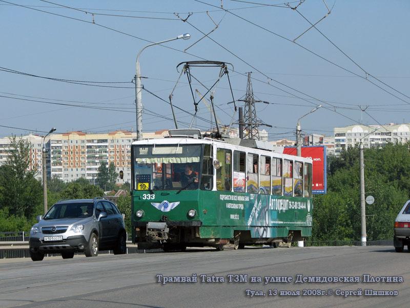 Тула. Tatra T6B5 (Tatra T3M) №333