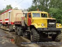 Тверь. Разгрузка трамвая ЛМ-99АЭН Пчелка в трамвайном депо №1