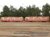 Разгрузка трамваев ЛМ-99АЭН