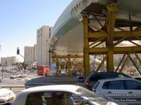 Иерусалим. Временные опоры трамвайного моста на пересечении улиц Герцеля и Яффо