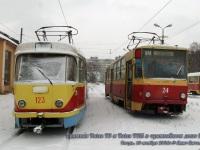 Тверь. Tatra T6B5 (Tatra T3M) №24, Tatra T3SU №123
